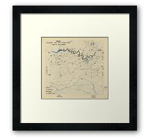August 30 1944 World War II Twelfth Army Group Situation Map Framed Print