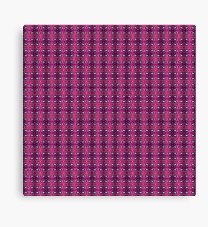 Plaid Toadstool - pinks Canvas Print