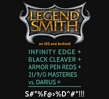 LegendSmith Calculating Darius Womens Fitted T-Shirt