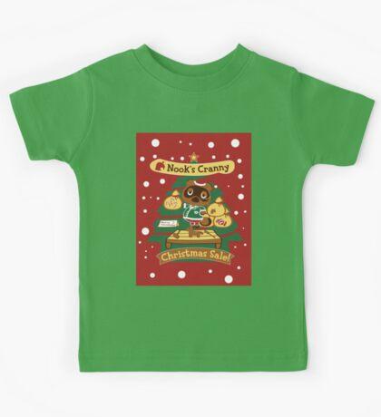 Tom Nook's Christmas Sale Kids Tee