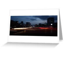 Seoul Rush Hour Greeting Card