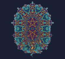 Aqua Purple Pentagram Love Reflection by webgrrl