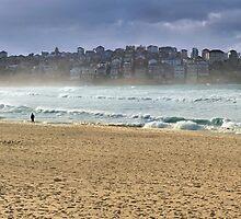 Bondi Beach on a windy day by barnabychambers