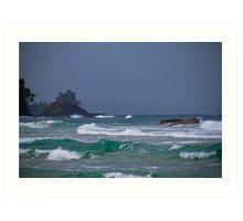 Panama. Bocas del Toro. Red Frog Beach. Waves. Art Print