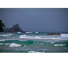 Panama. Bocas del Toro. Red Frog Beach. Waves. Photographic Print