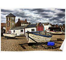 Aldeburgh Boats Poster
