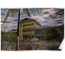 Panama. Town of Bocas del Toro. Sunset. Poster