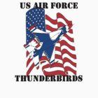 F-16 Thunderbird American Flag by Joseph Baker