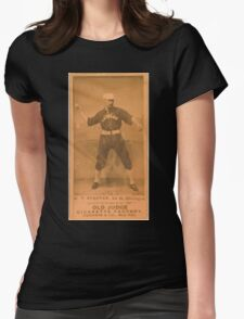 Benjamin K Edwards Collection Fred Pfeffer Chicago White Stockings baseball card portrait 002 Womens Fitted T-Shirt