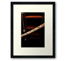 step this way ,  master bates Framed Print
