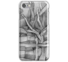 Trees Viewed Through a Fence on a Welsh Mountainside. iPhone Case/Skin