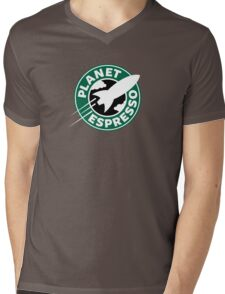Planet Espresso Mens V-Neck T-Shirt
