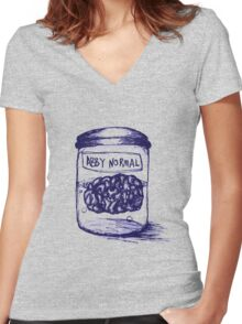 Abby Normal Women's Fitted V-Neck T-Shirt