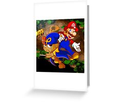 Mario and Geno  Greeting Card