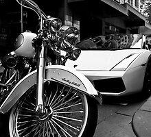 Lambo and Harley by Sam Tabone