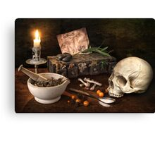 The Sorcerer's Worktable Canvas Print