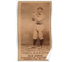 Benjamin K Edwards Collection Powell Sioux City Team baseball card portrait Poster