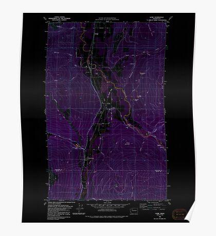 USGS Topo Map Washington State WA Acme 239726 1980 24000 Inverted Poster