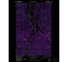 USGS Topo Map Washington State WA Acme 239726 1980 24000 Inverted Photographic Print
