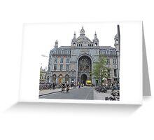 Antwerp Railway Station, Belgium Greeting Card