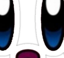Kirby - face shirt transparent Sticker