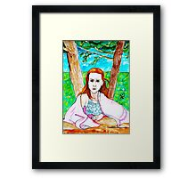 The Very Serious Rose Framed Print