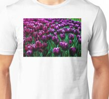 Pink and Purple Tulips Unisex T-Shirt