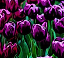 Pink and Purple Tulips Sticker