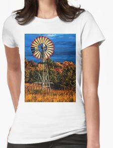 Blowing in the Wind Womens Fitted T-Shirt