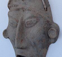 Modern Replic of a Maya Mask - Replica Moderna de una Mascara May by PtoVallartaMex
