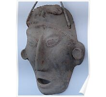 Modern Replic of a Maya Mask - Replica Moderna de una Mascara May Poster