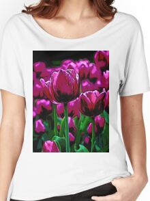 Pink Tulips Women's Relaxed Fit T-Shirt