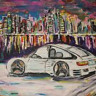 city nightlife painting on canvas  by yoyoart