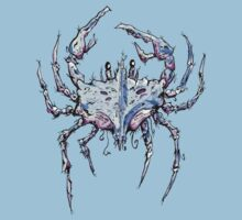 Blue and Purple Crab Kids Tee