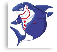 Shark of business Canvas Print