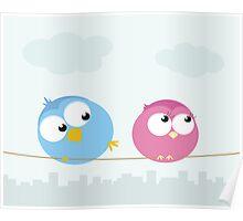 Bird flirt   Poster