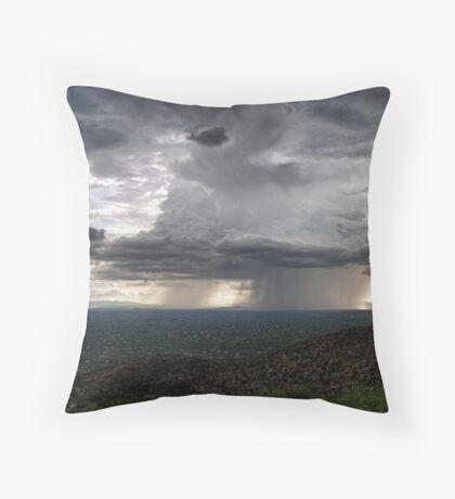 Monsoon Storm Over Tucson  Throw Pillow