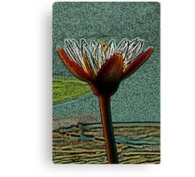 Hand of Life - Coloured Pencil Effect Canvas Print
