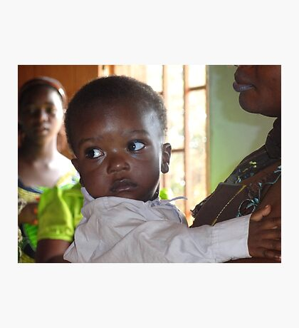 Bright eyes in Cameroon, Central Africa Photographic Print