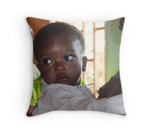 Bright eyes in Cameroon, Central Africa Throw Pillow