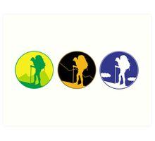 Adventure emblem   Art Print