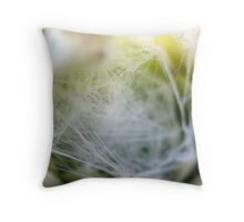 Silky strands Throw Pillow