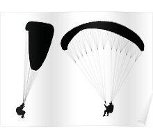 Flying paraglider    Poster