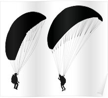 Paraglider before taking off    Poster