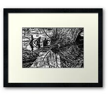 Dark Reflections Framed Print