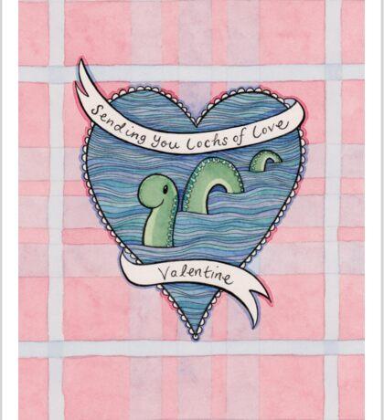 Nessie Valentine Sticker