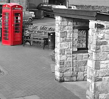 Red telephone box Pendle Hill by jorafc