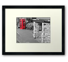 Red telephone box Pendle Hill Framed Print