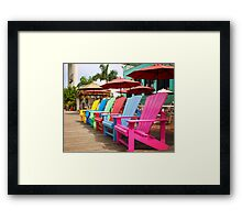 Fort Myers Beach Chairs Framed Print