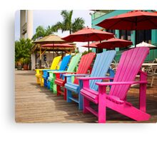 Fort Myers Beach Chairs Canvas Print